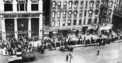 Photograph - New York: Bank Run, 1930 by Granger
