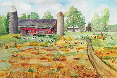 Painting - New York -barn Near Pulaski, Ny by Christine Lathrop