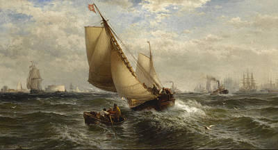 Painting - New York Bay by Edward Moran
