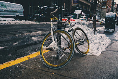 Photograph - New York Bicycle by Christopher Villandry