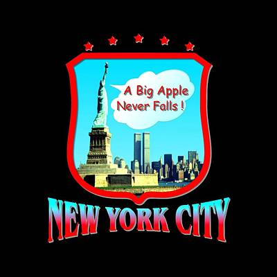 Buy Tshirts Tapestry - Textile - New York Big Apple Design by Art America Gallery Peter Potter