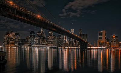 New York Black And Gold Art Print
