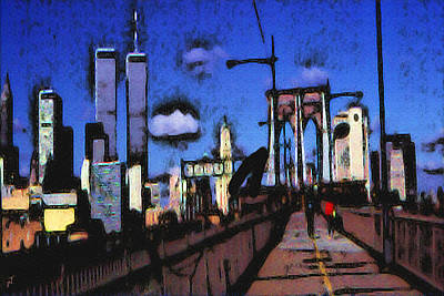 New York Blue - Modern Art Art Print