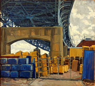 Dumpster Painting - New York Blue by Thor Wickstrom