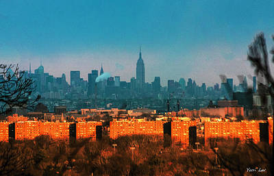 Photograph - New York Blue Vs New Jersey Orange by Yuri Lev