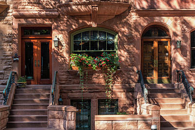 Photograph - New York Brownstones by Cornelis Verwaal