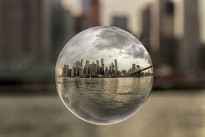 New York Bubble Art Print by Zev Steinhardt