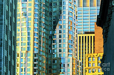 Photograph - New York By Gehry In Lower Manhattan by John Rizzuto
