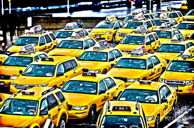 New York Cab Art Print by Alessandro Giorgi Art Photography
