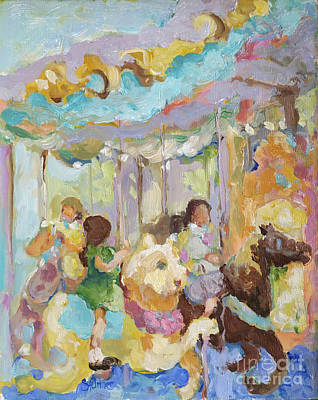 Painting - New York Carousel by Sharon Furner
