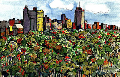 Painting - New York Central Park by Terry Banderas