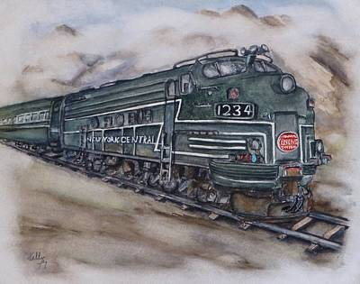 Painting - New York Central Train by Kelly Mills