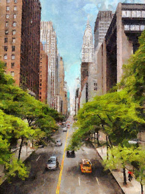 Painting - New York Chrysler Building Art Painting by Wall Art Prints
