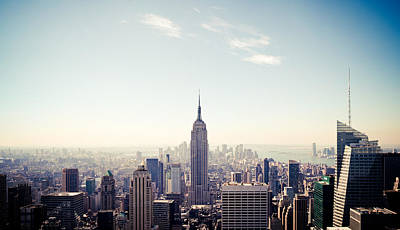 New York City - Empire State Building Panorama Art Print by Thomas Richter
