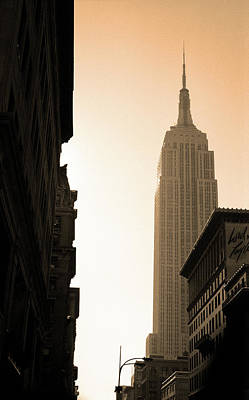 Photograph - New York City 1982 Sepia Series - #5 by Frank Romeo