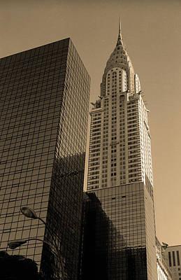 Photograph - New York City 1982 Sepia Series - #6 by Frank Romeo