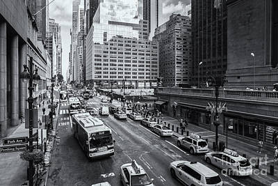Photograph - New York City 42nd Street Traffic Iv by Clarence Holmes