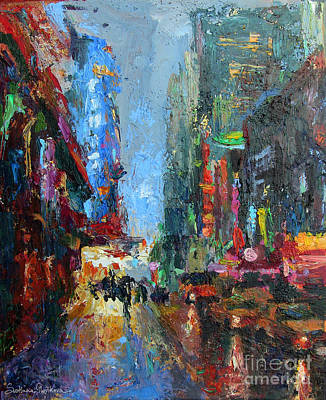 Austin Drawing - New York City 42nd Street Painting by Svetlana Novikova