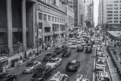 Photograph - New York City 42nd Street Traffic II by Clarence Holmes