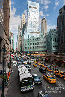 Photograph - New York City 42nd Street Traffic V by Clarence Holmes