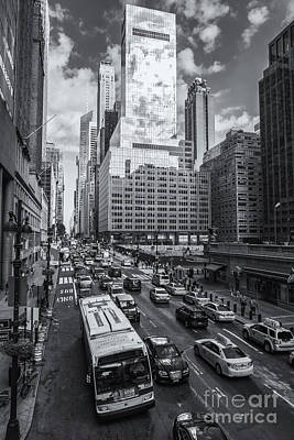 Photograph - New York City 42nd Street Traffic Vi by Clarence Holmes