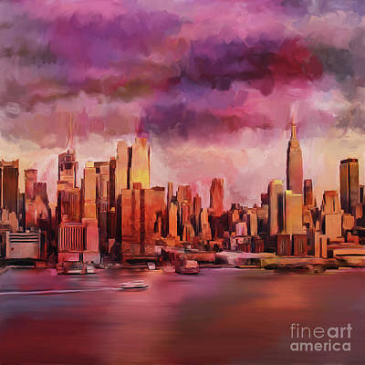 Painting - New York City 56 by Gull G