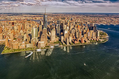 Photograph - New York City Aerial View by Susan Candelario