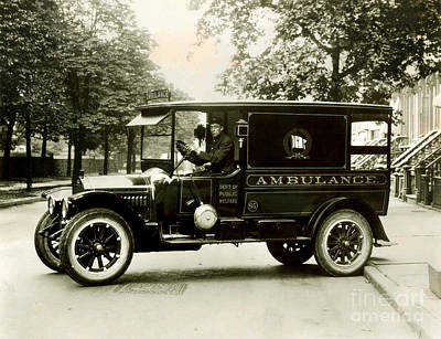 Ambulance Photograph - New York City Ambulance by Jon Neidert
