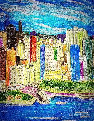 Painting - New York City by Anne Sands