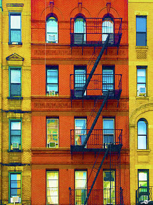 Mixed Media - New York City Apartment Building 2 by Tony Rubino