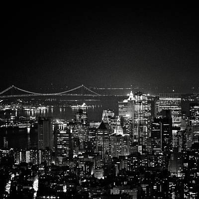New York City At Night Art Print by Image - Natasha Maiolo
