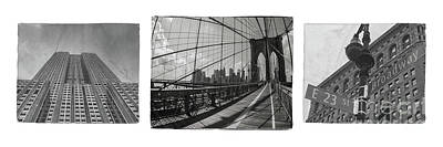 Nikki Vig Royalty-Free and Rights-Managed Images - New York City Black and White Print by Nikki Vig