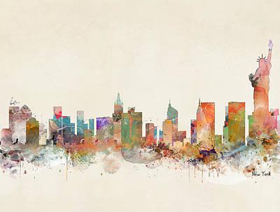New York City Skyline Painting - New York City by Bri B