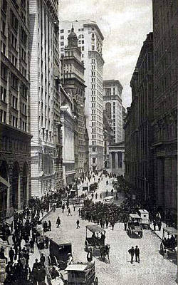 Photograph - New York City Broad St. Stock Exchange - 1904 by Merton Allen