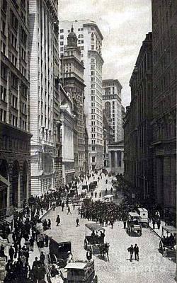 Photograph - New York City Broad Street Stock Exchange - 1904 by Merton Allen