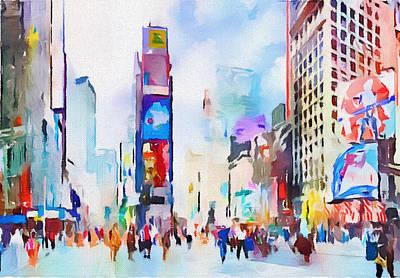 New York City Center 2 Art Print by Yury Malkov