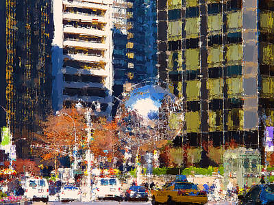 Digital Art - New York City Center 3 by Yury Malkov