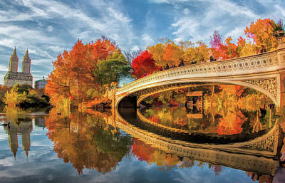 Painting - New York City Central Park Bow Bridge by Christopher Arndt