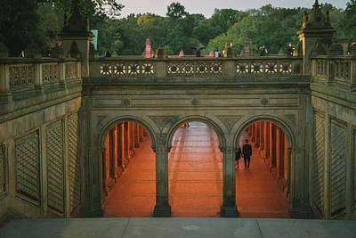 Bethesda Fountain Photograph - New York City Central Park Romance by Vivienne Gucwa