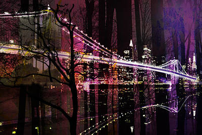 Mayfield Mixed Media - New York City by Christine Mayfield