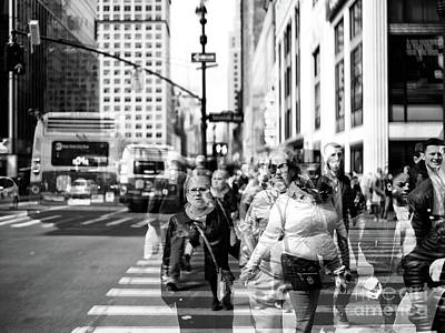 Photograph - New York City Faces Double Exposure by John Rizzuto