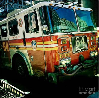 Photograph - New York City Fire Engine by Miriam Danar