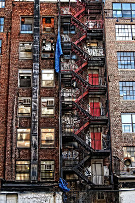 Photograph - New York City Fire Escape by Mike Martin