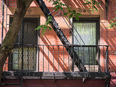 Photograph - New York City Fire Escape by Robin Zygelman