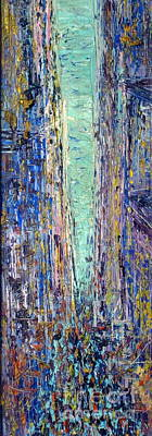 Pallet Knife Painting - New York City by Frederick  Luff