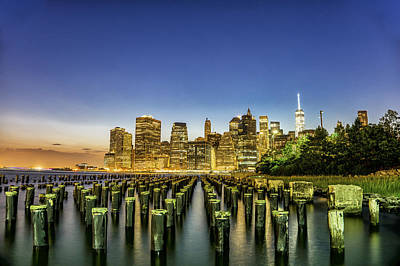 Photograph - New York City From Brooklyn by Rafael Quirindongo