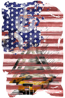 Abstract Digital Art Photograph - New York City Geometric Mix No. 8 by Melanie Viola