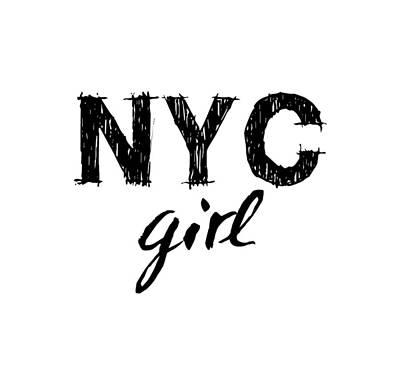 Digital Art - New York City Girl by Wall Art Prints
