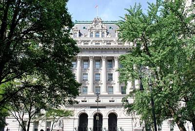 Photograph - New York City Hall - Facade by Matt Harang