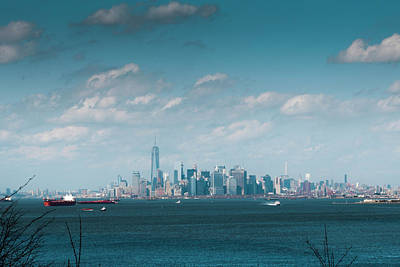 Photograph - New York City Harbor by Kenneth Cole